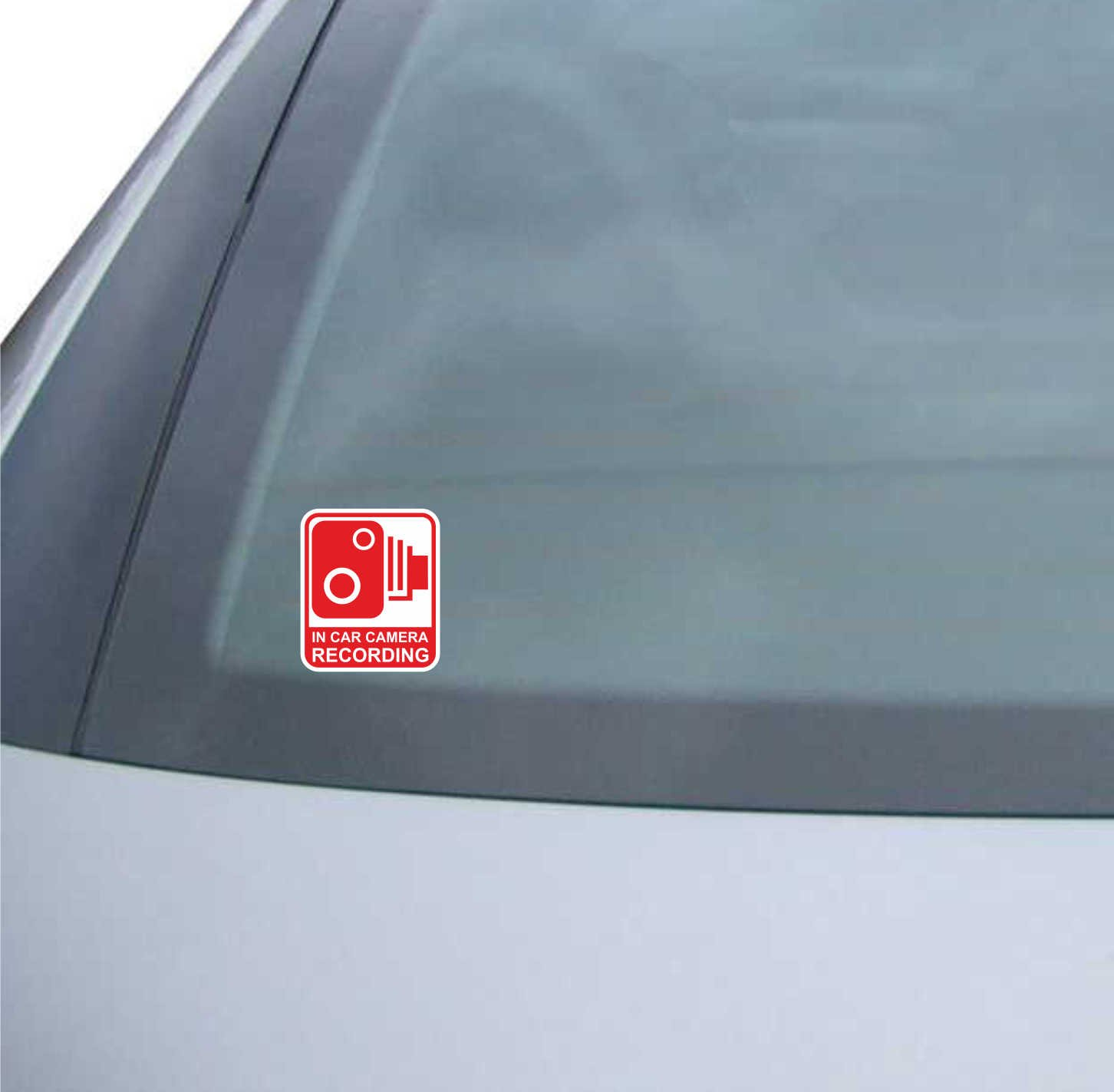 Car CCTV Security In van camera recording Safety External Sticker // Sign
