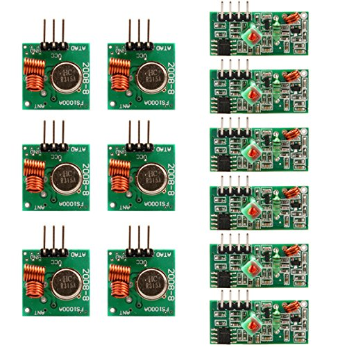 UCEC XY-MK-5V / XY-FST 315Mhz Rf Transmitter and Receiver Module Link Kit for Arduino/Arm/McU/Raspberry pi/Wireless DIY(6-pack)