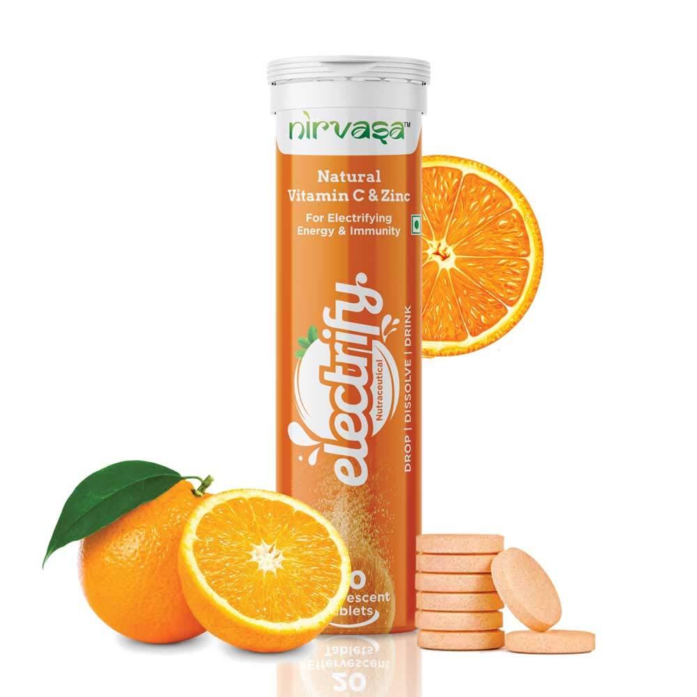 70% Off Deal – Nirvasa Electrify Vitamin C & Zinc – 20 Tablets