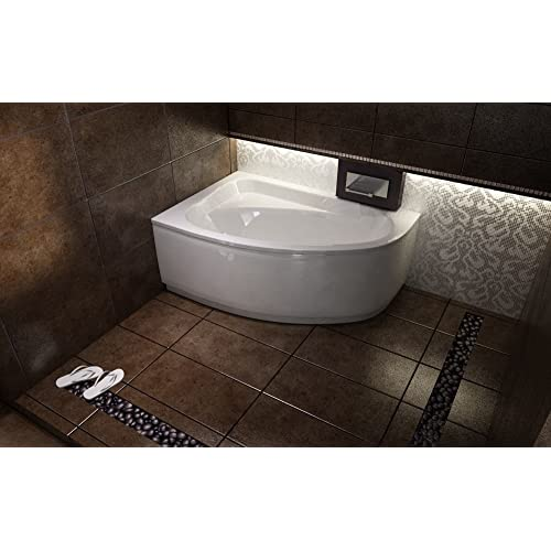 Offset Corner Bath *CORNEA* SPACE SAVER 1400 X 800 Mm With Front Panel And