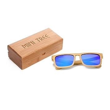 Mini Tree Vintage bambou lunettes de soleil polarisées lunettes de soleil bambou dames hommes lunettes de soleil hommes bois 100% UV400 protection lunettes de plein air (Vert) dcFbYJ