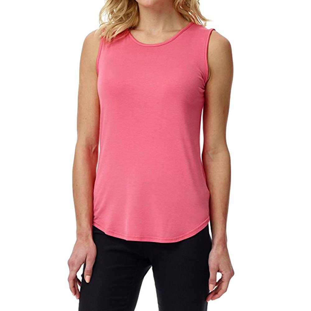 Solid Color Vest for Women, Gogoodgo Ladies Loose O Neck Swing Hem Tank Top Soft Fabric Sleeveless Classic Tops Pink by Gogoodgo vest (Image #1)