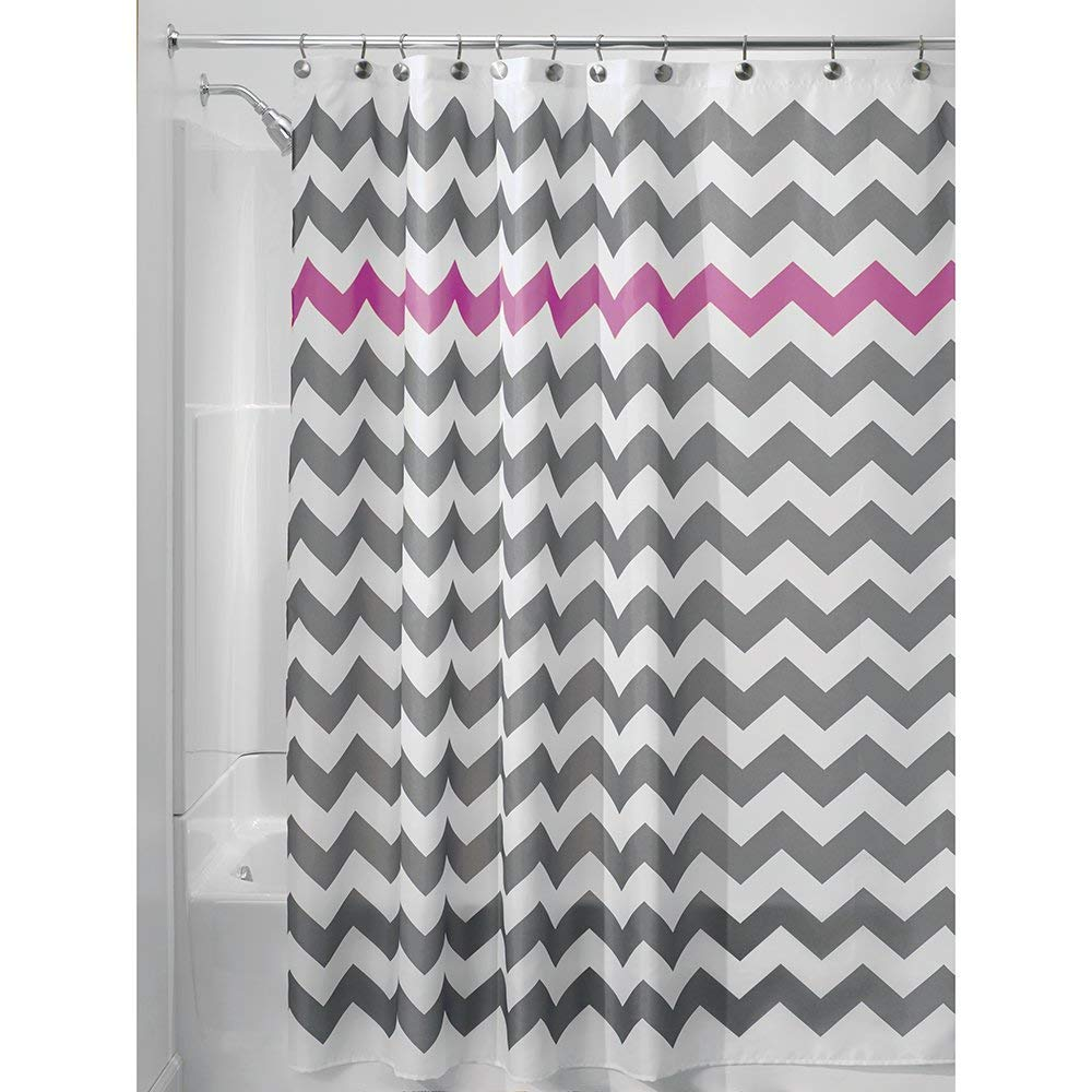 Amazon InterDesign Chevron Shower Curtain 72 X Inch Gray Orchid Home Kitchen