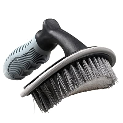 HitCar Car Vehicle Motorcycle Alloy Wheel Tire Rim Scrub Brush Washing Cleaner Cleaning Tool for Car Truck Home Kitchen Office: Automotive