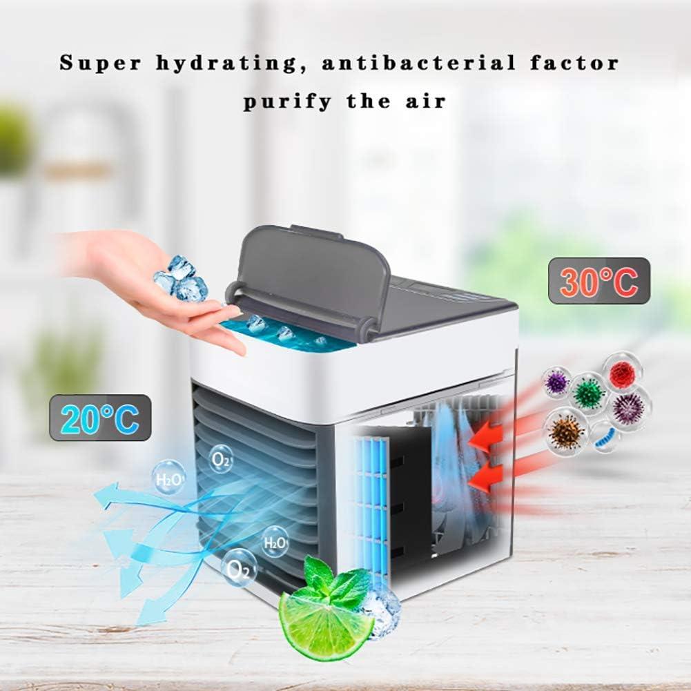 LIYT Enfriadores de Aire Mini, Escritorio humidificador radiador Espacio, purificador de Aire y Ventilador portátil, Enfriador de Aire Personal para el Espacio de Oficina en casa,Blanco