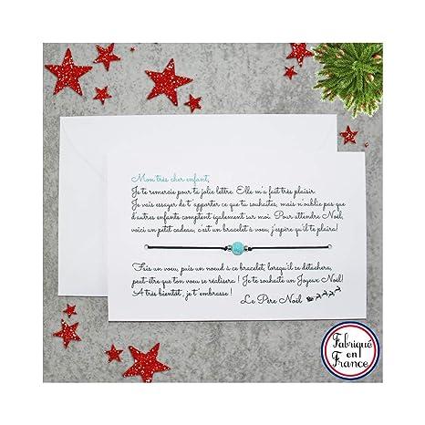 Lettre De Reponse Au Pere Noel.Carte De Voeux Lettre Du Pere Noel Pour Garcon Bracelet