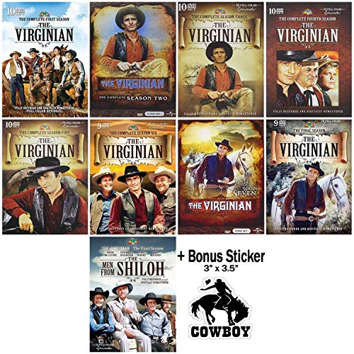 The Virginian (AKA The Men From Shiloh): Complete TV Series Seasons 1-9 DVD Collection + Bonus Sticker (Virginian Season 2)