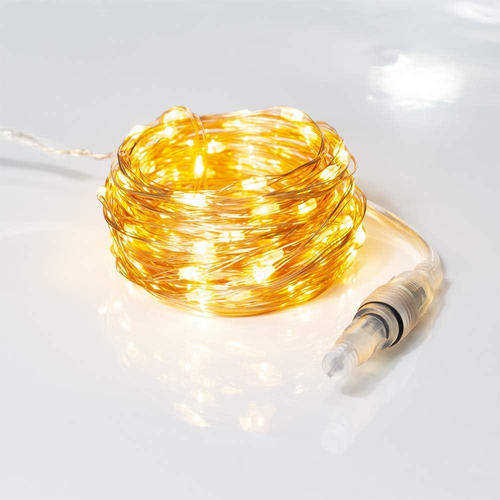XINKAITE LED String Lights 33ft 100 LEDs Fairy Lights (Accessory) for Extend The 66ft 200 LEDs Fairy Lights