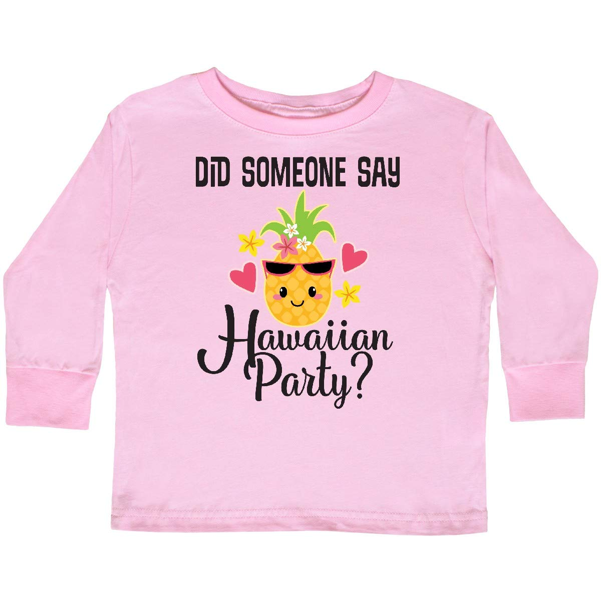 inktastic Hawaiian Party Pineapple Toddler Long Sleeve T-Shirt