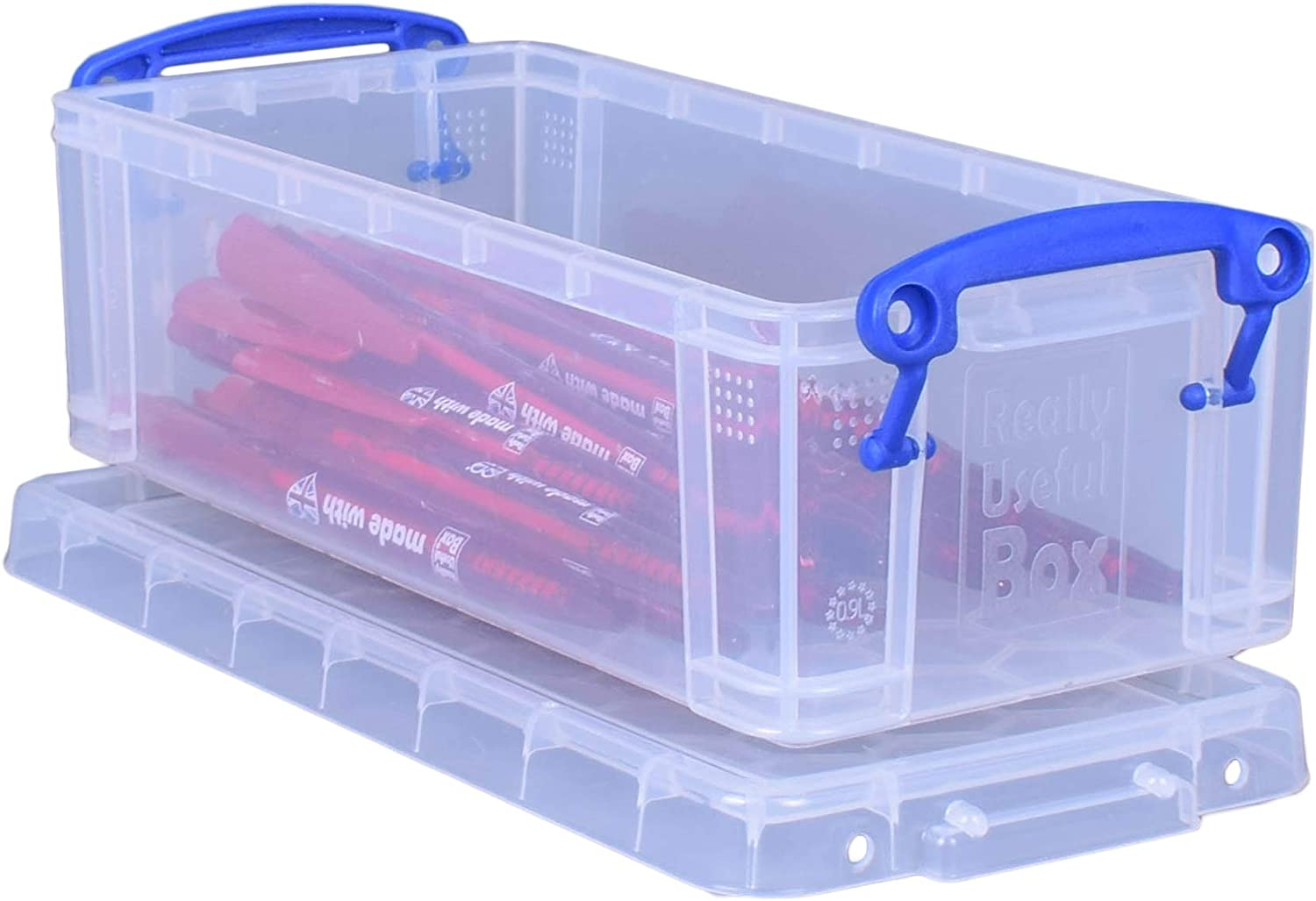 Clear 1 x 0.55 Litre Really Useful Box Various Colours