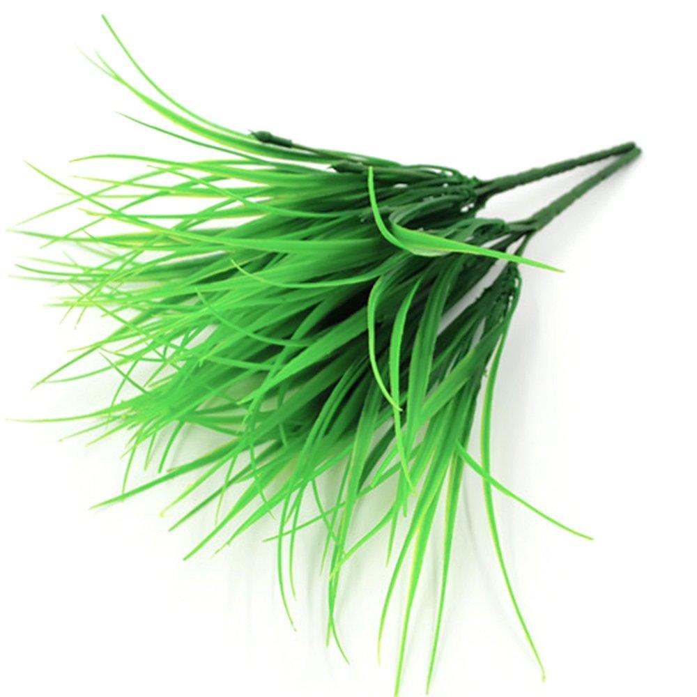Muhan人工植物人工プラスチックWheat Grass FakeプラスチックGreenery Bushes花フィラーインドア外側ホームガーデンウェディングオフィス装飾 B07C9GHJ9N