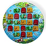 Playte Kids Plate, Set of 3 ADVENTURE Game - Perfect for Difficult and Picky Eaters - Turn Meal Time Into Play Time. Fun Activity Keeping the Focus on the Food [Ages 4-8] Melamine Plates BPA Free