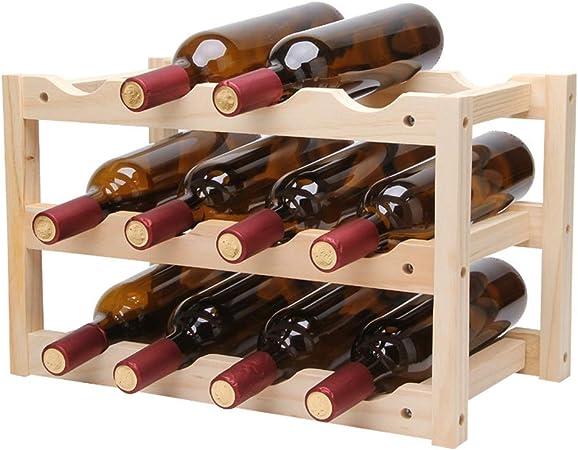 bricolage 12 vin de la bouteilles de BAYUE titulaire rouge UzVSMGqp