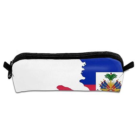 Pengyong Bandera Mapa de Haití Estudiante lápiz Estuche con ...