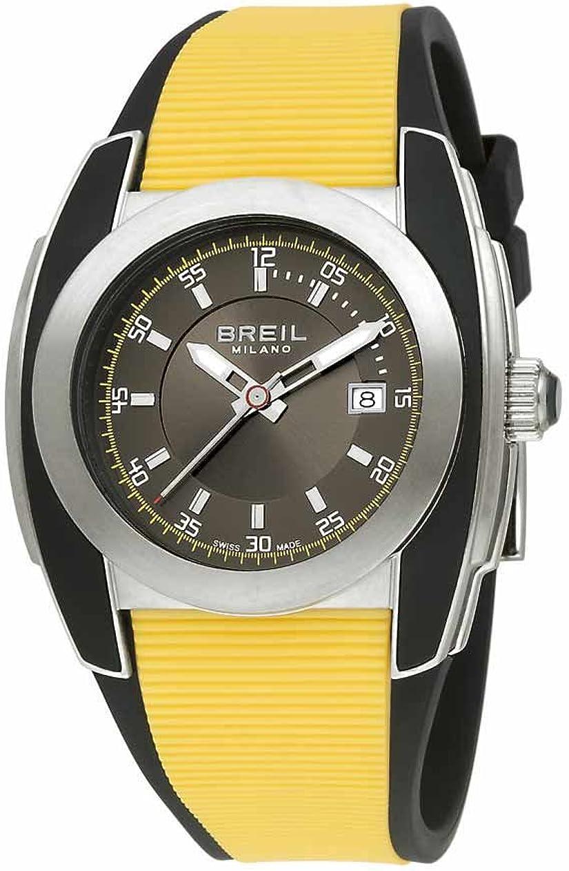 Breil Milano BW0370 - Reloj de Caballero de Cuarzo, Correa de Caucho Color Amarillo