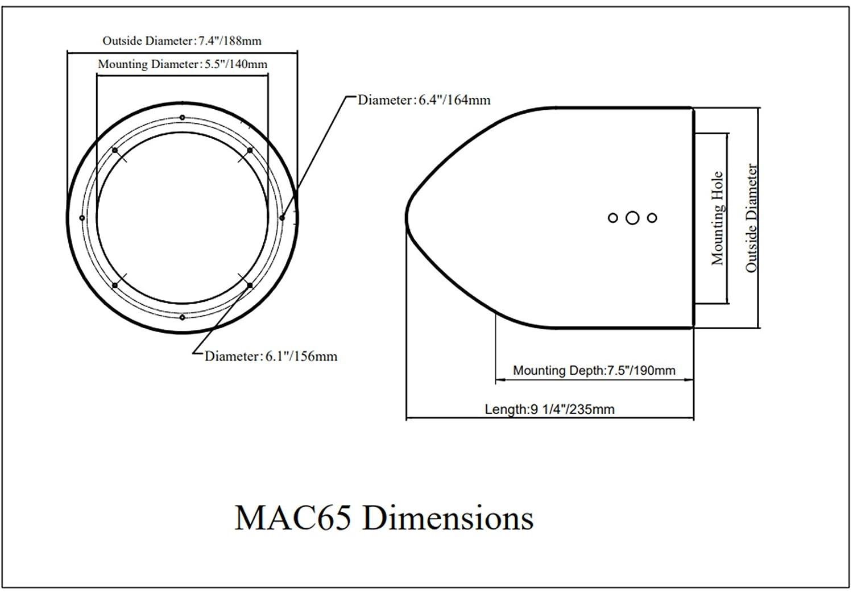 BOSS Pair Audio MR6W 6.5 180 Watt Marine//Boat Wakeboard Tower Speakers