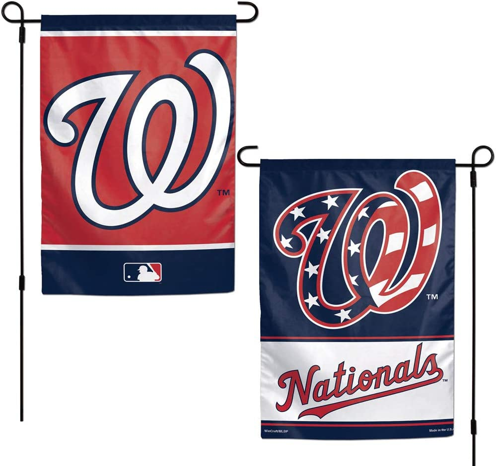 WinCraft MLB Washington Nationals Flag12x18 Garden Style 2 Sided Flag, Team Colors, One Size
