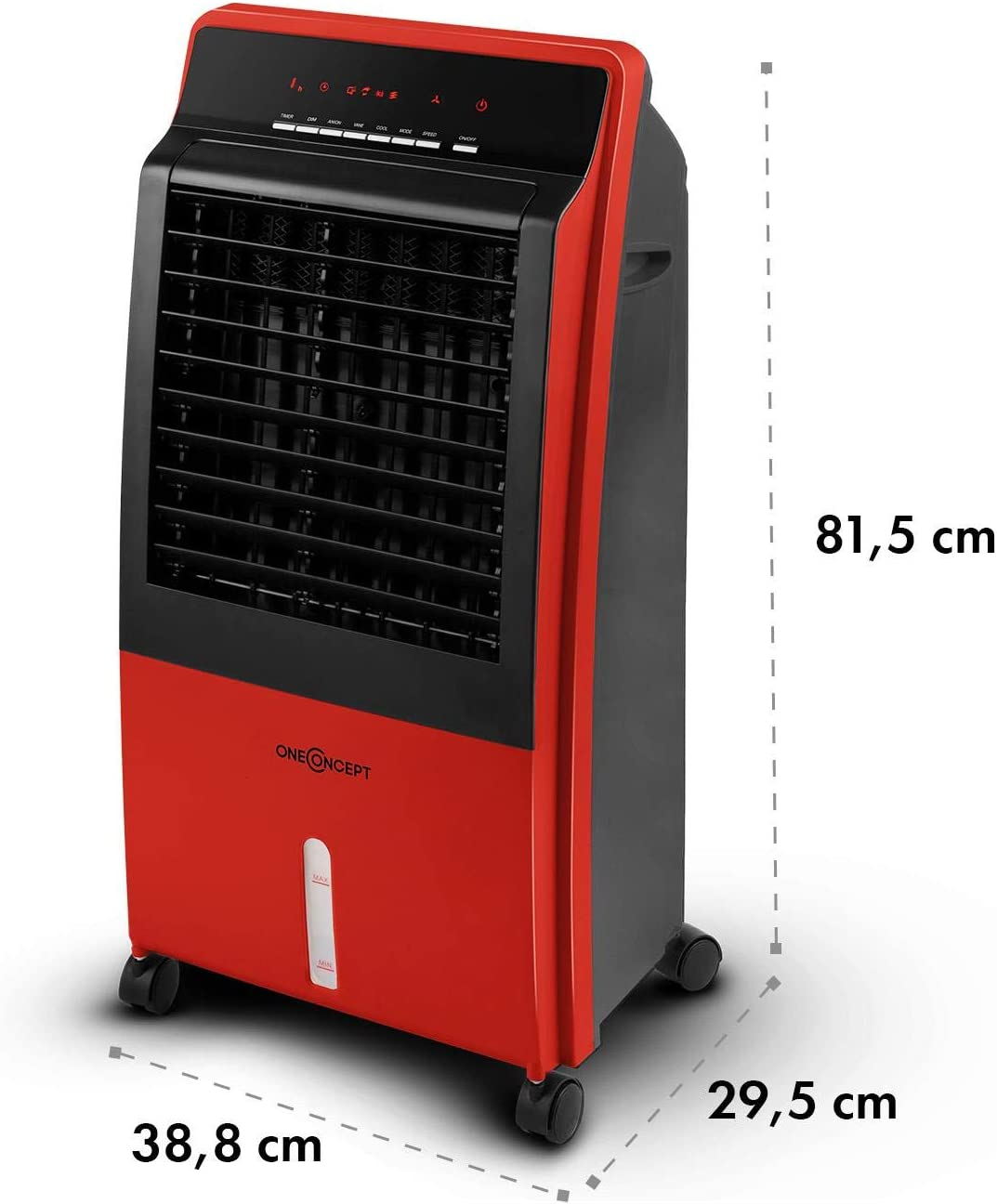 Ventilador Climatizador evaporativo 4 en 1 Blanco Calefactor Purificador oneConcept CTR-1 Heat Shape Edition Port/átil Enfriador de aire Tanque 8L 65W Mando a distancia