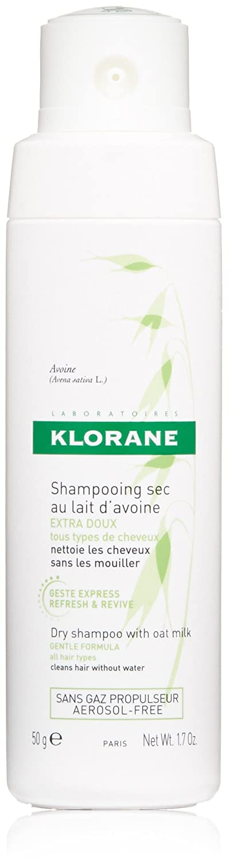 Klorane Dry Shampoo Powder with Oat Milk , Non-Aerosol Formula, Eco-friendly Loose Powder, Paraben & Sulfate-Free, 1.7 oz.