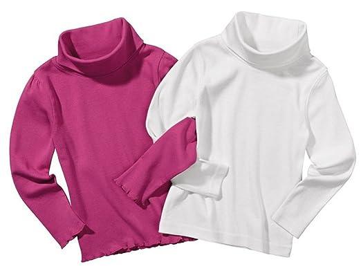 cb2de8863 lupilu Girls' Long-Sleeved Top - White - 5/6 Years: Amazon.co.uk ...