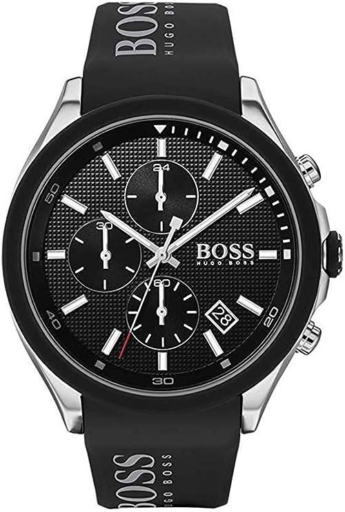 Hugo boss orologio analogico quarzo uomo con cinturino in silicone 1513716