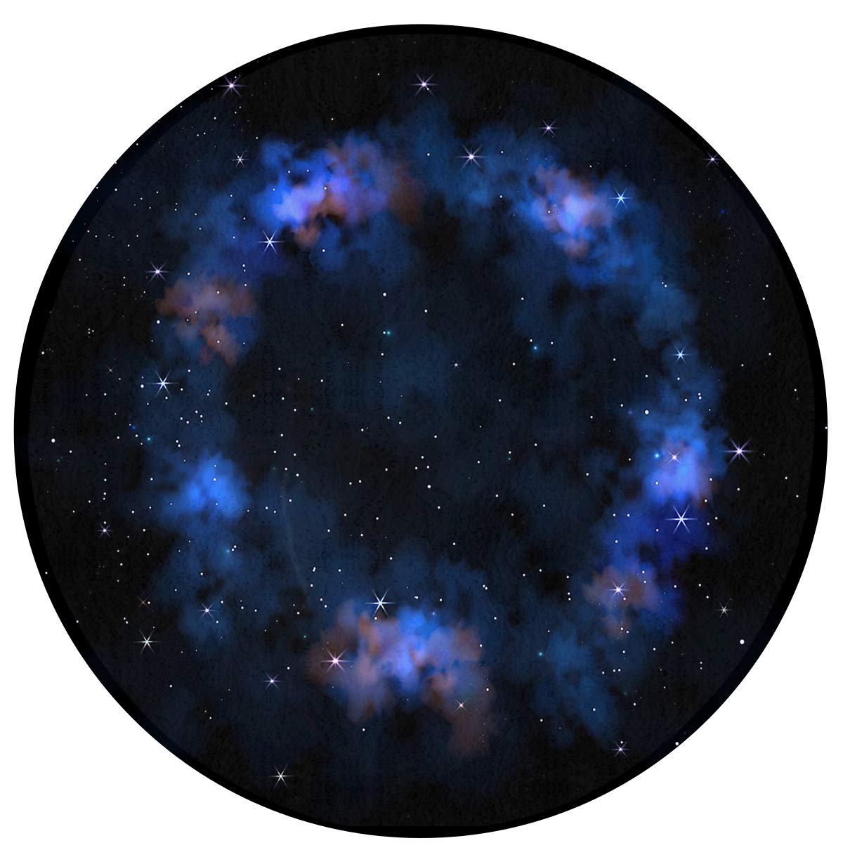 MOANDJI Sky Galaxy Stars Soft Circular General Purpose Floor Mat Or Rug Use in Front of Bedroom, Kitchen, Bath Tub, Toilet