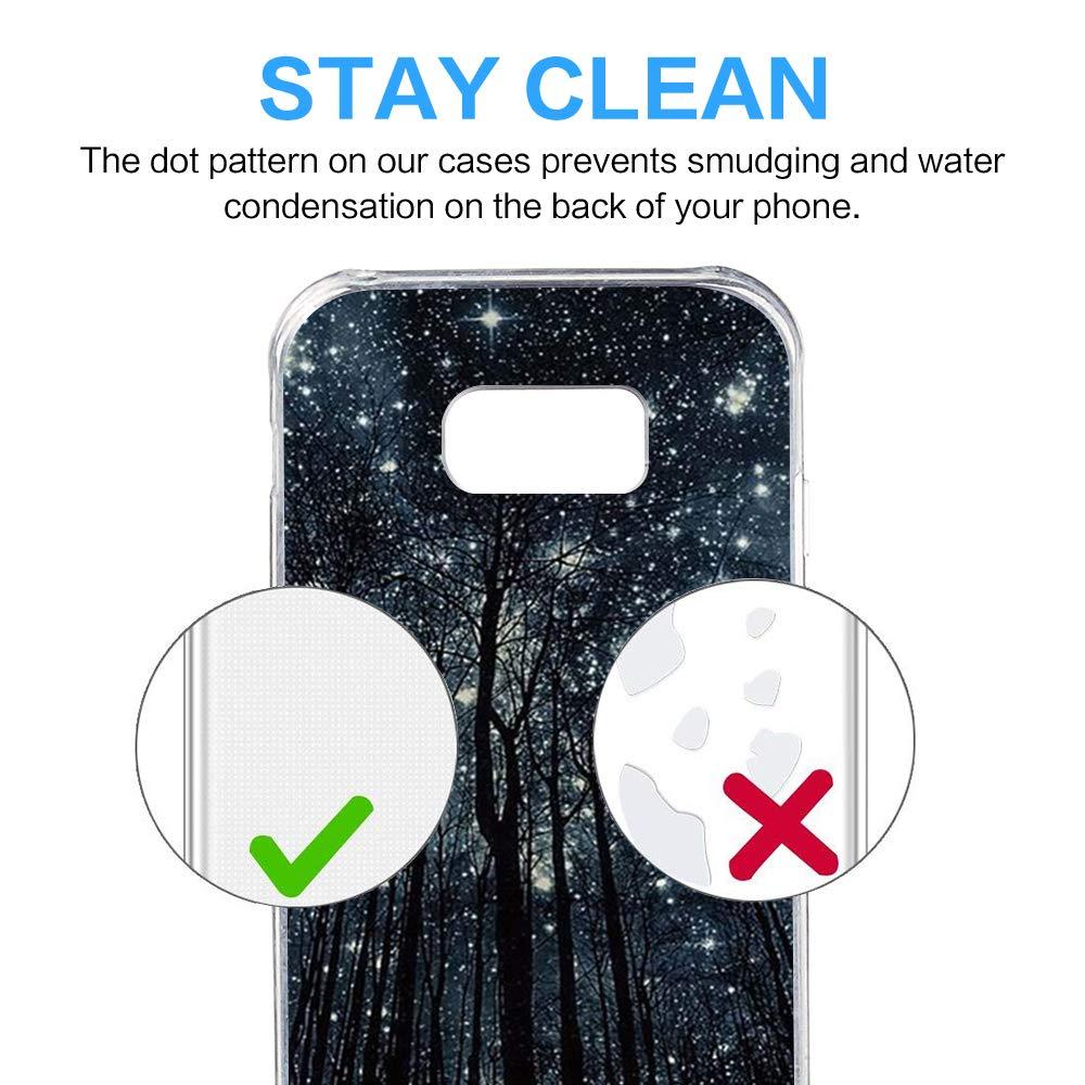 Riyeri H/ülle Compatible with Samsung Galaxy S8 Plus H/ülle Klar Slim TPU Silikon Bumper Handytasche f/ür Samsung S8 S8, 3 Sch/öne Nachtansicht