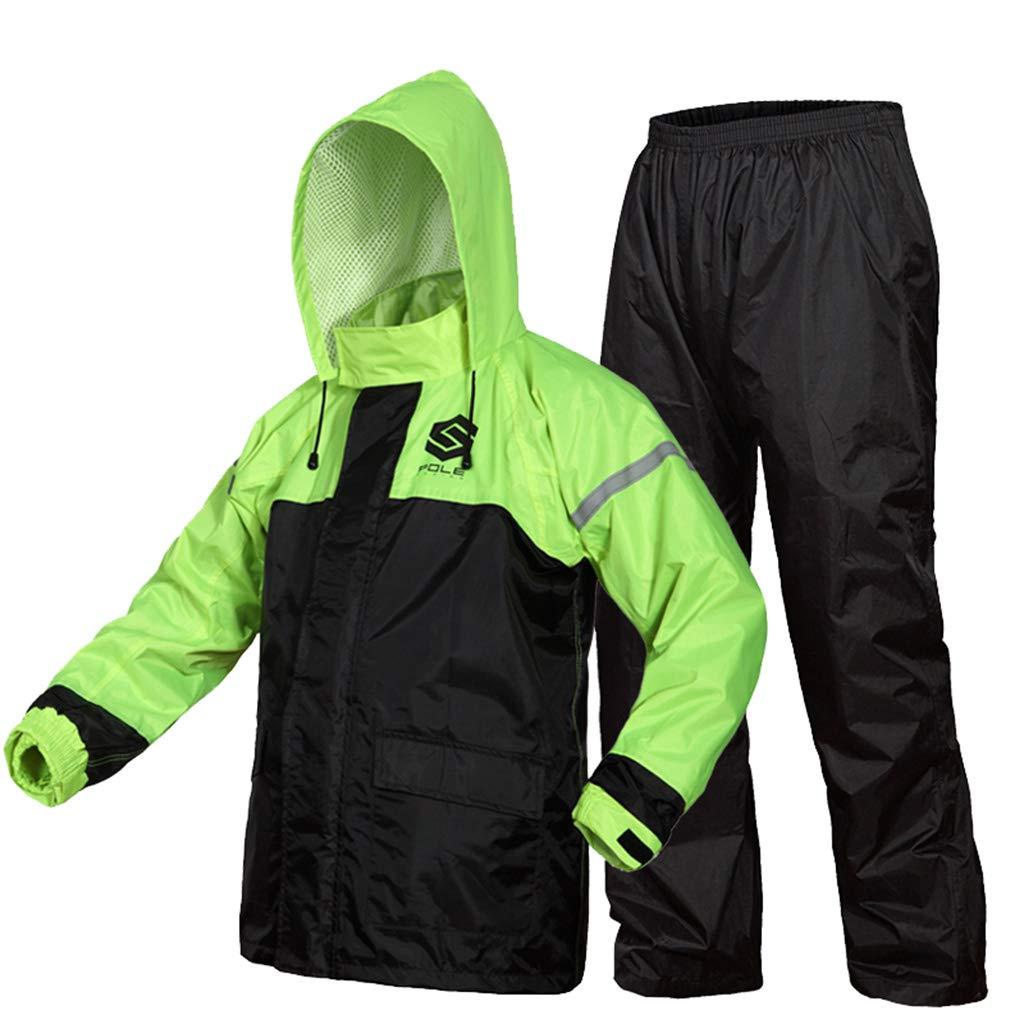 Regenmantel für Männer und Frauen Leichte atmungsaktive Regenbekleidung (Regenjacke und Regenhosen-Set) Erwachsene wasserdicht Winddicht mit Kapuze Outdoor-Arbeit Radfahren Angeln Wandern Laufen