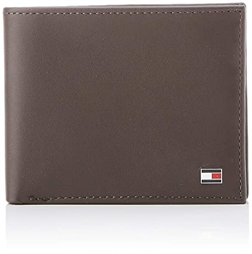 4849c9b9d3 Tommy Hilfiger Eton Mini CC Wallet, Portafoglio Unisex-Adulto, Marrone  (Brown), OS: Amazon.it: Scarpe e borse