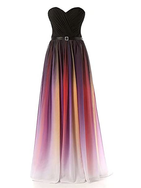 17014c82f8d7 JAEDEN Mujeres forma de corazš®n Largo Gasa Trajes de gala Vestido ...