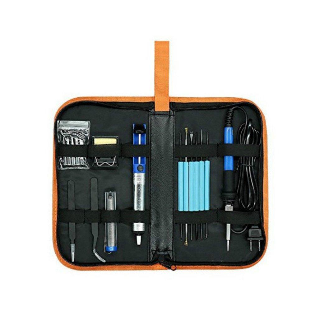Zorvo Electric Soldering Iron Kit with 60w Adjustable Temperature Soldering Iron 110V