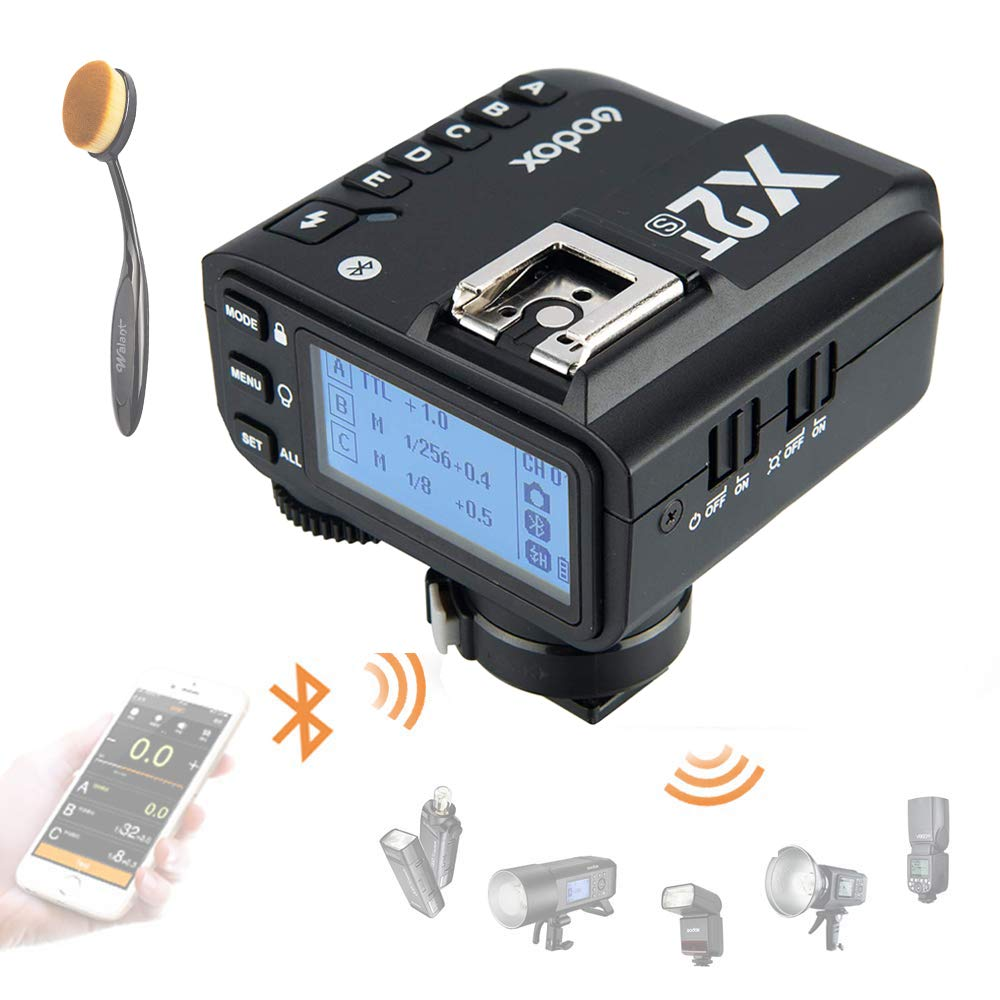Godox X2T-S TTL Wireless Flash Trigger for Sony, Bluetooth Connection, 1/8000s HSS, TCM Function, 5 Separate Group Buttons, Relocated Control-Wheel, New Hotshoe Locking, New AF Assist Light