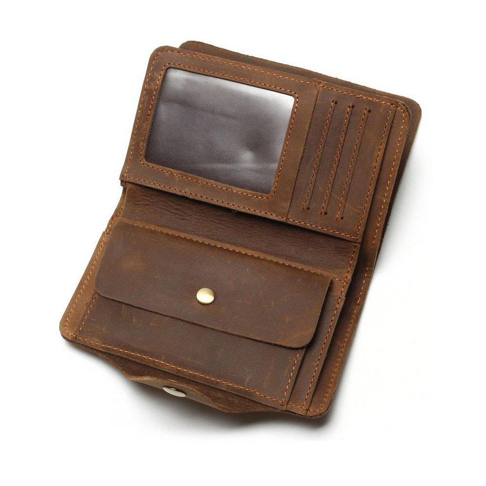 Asdflina Bien Artesanal Hombres Long Travel Multi Card Position Cartera de Cuero Vintage Adecuado para Uso Diario: Amazon.es: Hogar