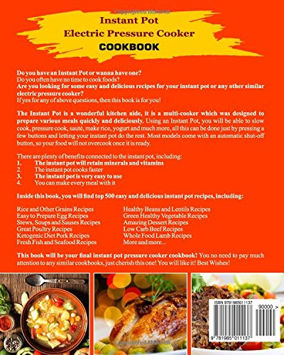 Instant pot electric pressure cooker cookbook top 500 chef proved instant pot electric pressure cooker cookbook top 500 chef proved super quick easy and delicious instant pot recipes for weight loss and overall forumfinder Image collections