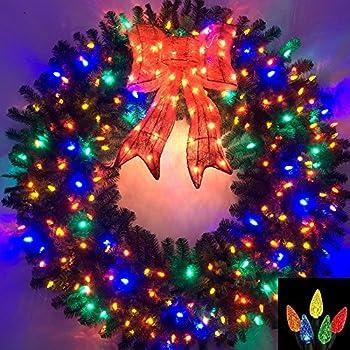 Amazon.com: 4 Foot Multi-Color L.E.D. Christmas Wreath: Home & Kitchen