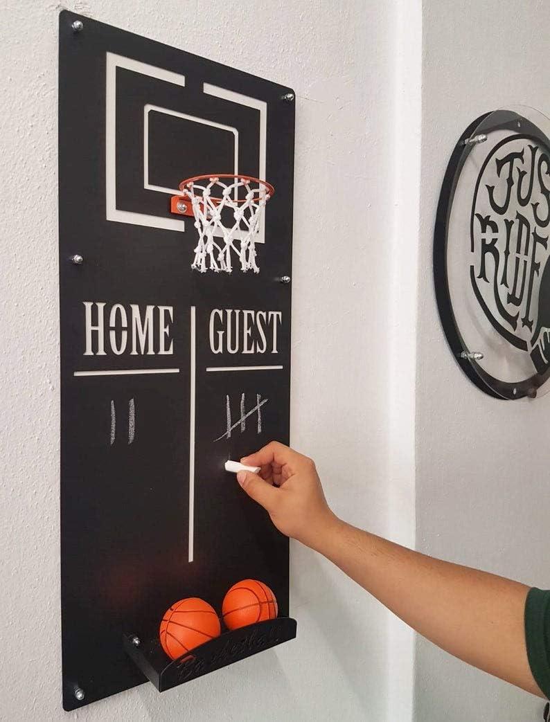 aro de Baloncesto Ocartes aro de Baloncesto de Metal Decorativo Aro de Baloncesto montado en la Pared con Sala de Deportes aro de Baloncesto Oficina Sala de Juegos