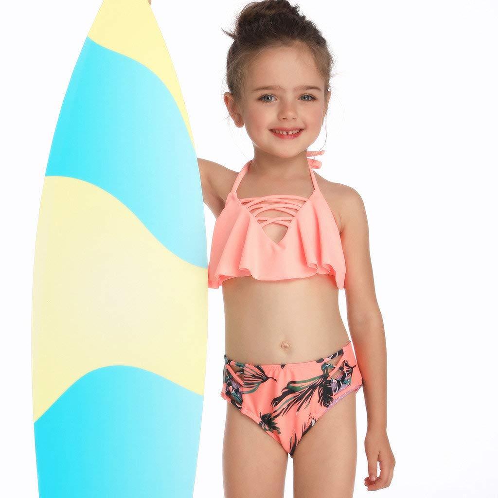f42f720ce1 Bikinis Niña Camisolas Madre e Hija Ropa Traje de baño Mujer Dos Piezas Ropa  de baño Cintura ...