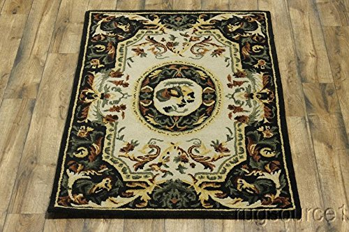 Rug Source New Hand Tufted Aubusson Agra Traditional Oriental 4x6 Area Rug (6' 2