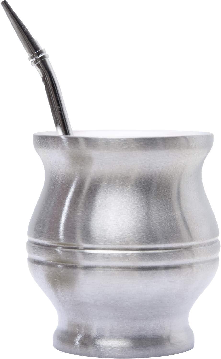 home & folksTM – Calabaza para mate con Bombilla – Kit Completo para Preparar Yerba Mate Tradicional – Innovación Antiquemaduras y Fácil de Limpiar