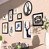 Anyer 2018 The New Creativity Solid Wood Photo Wall Simple Background Wall Living Room Combination Picture Frame Home Decorative Frame (18590CM)
