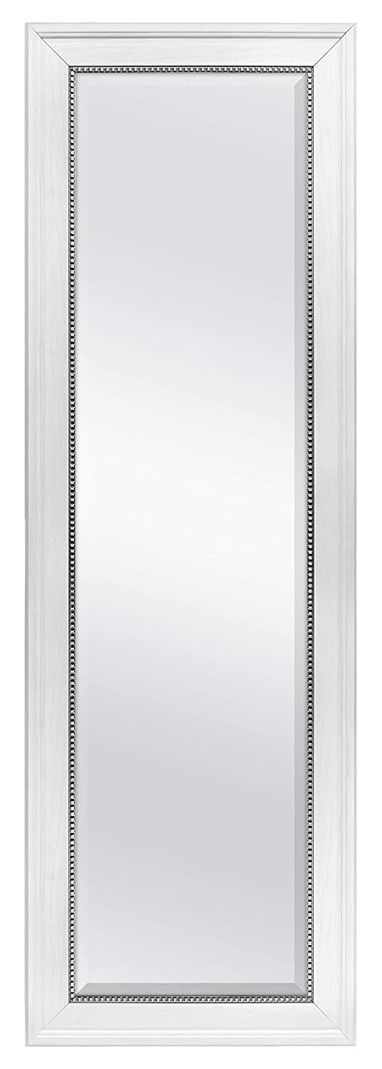 MCS 68881 Clavos Cheval Mirror 19.5 x 59.5 Inch Overall Size White Woodgrain