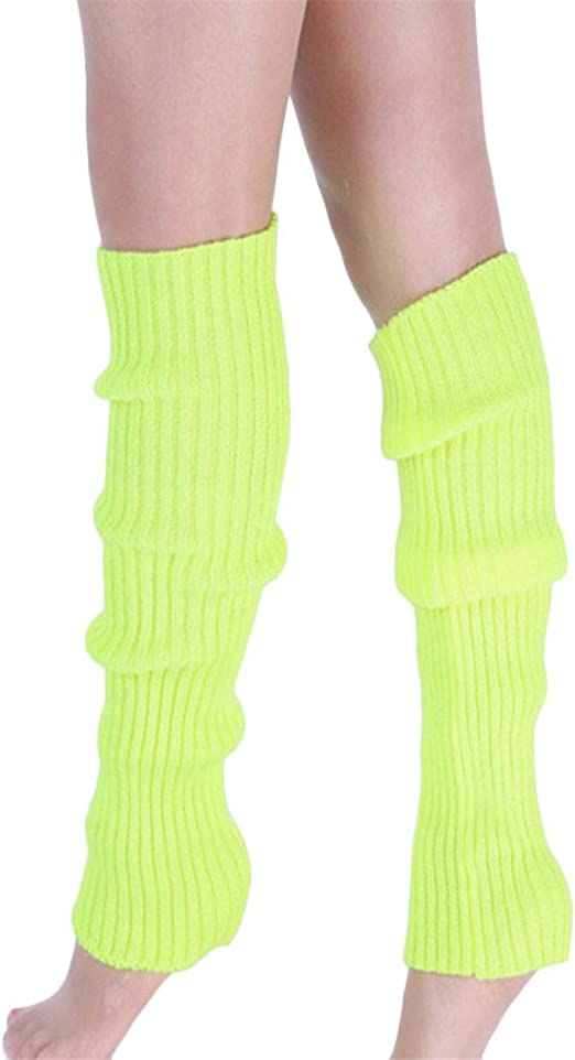 Green Checkerboard Pattern Womens Socks Girls Cosplay Leg Wamers Winter Warm Boot Stockings