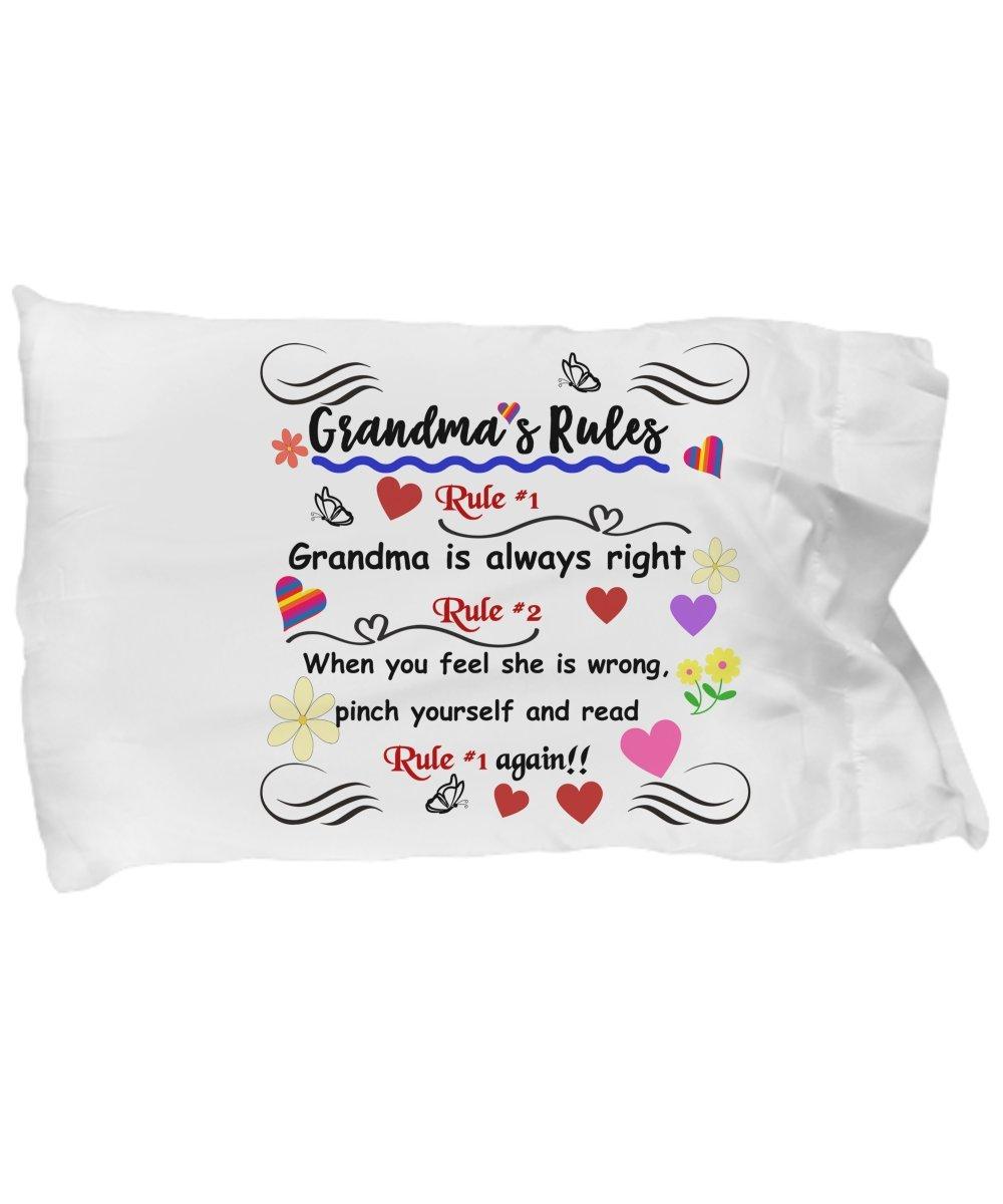La abuela reglas pillowcase-funny manta funda de almohada ...