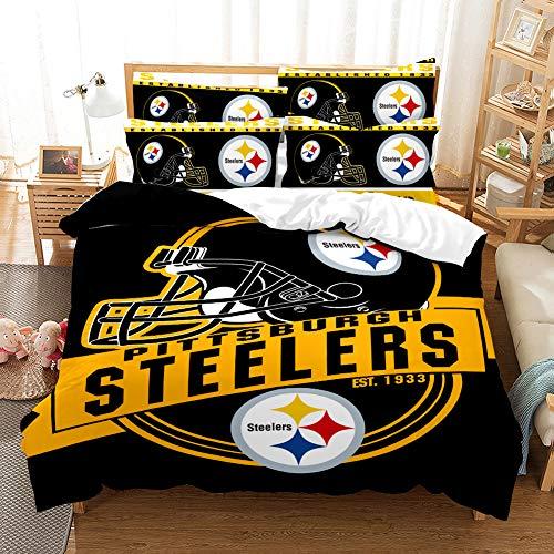 Weckim Pittsburgh Steelers Three-Piece Bedding Set