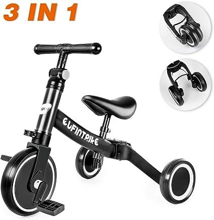 Besrey Baby Tricycle 4 in 1 Kids Travel Pushchair Adjustable Lightweight Bike