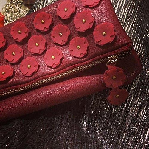 Zarapack - Borsetta senza manici donna (Vintage Red)