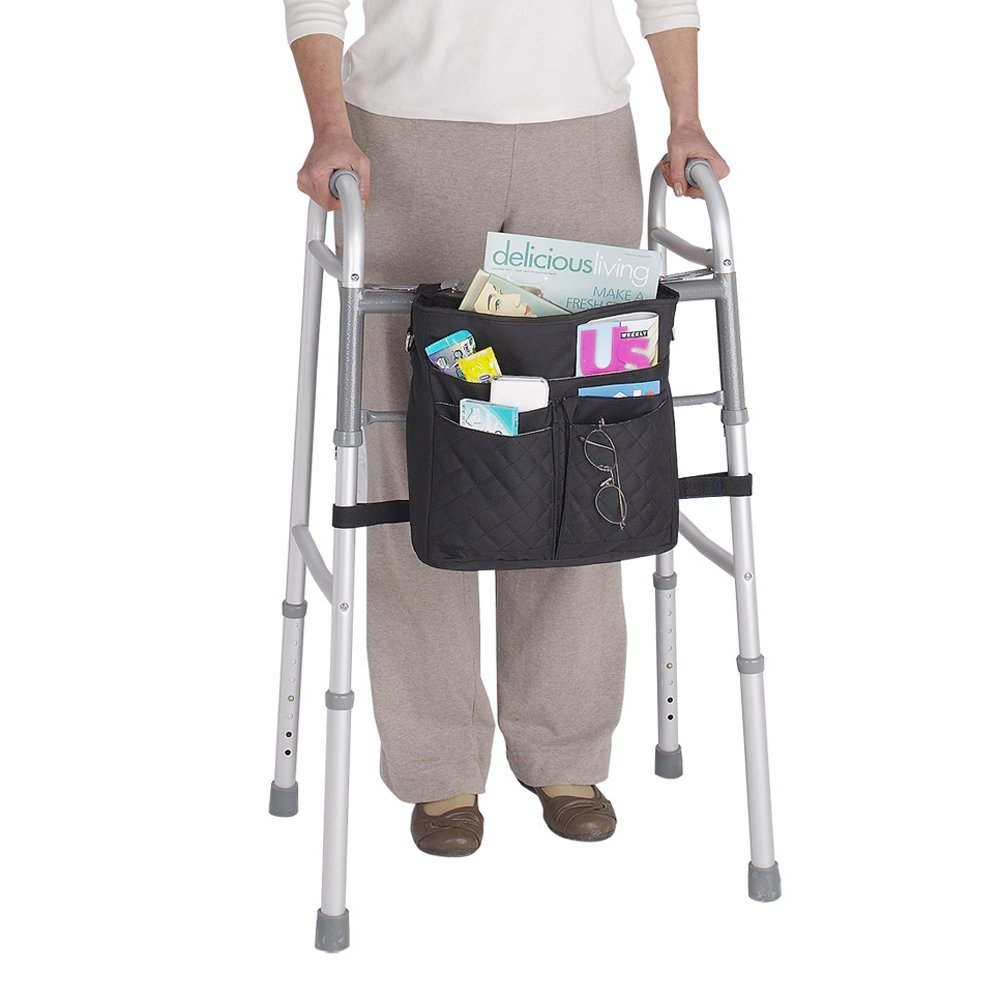 Juvo Products Universal Mobility Tote for Wheelchairs/Rollators/Walkers, Includes Detachable Shoulder Strap, Red (UT202)