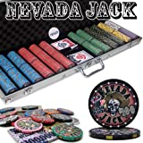 600 Ct Nevada Jack 10 Gram Ceramic Poker Chip Set w/ Aluminum Case by Brybelly