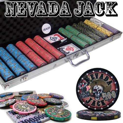 600 Ct Nevada Jack 10 Gram Ceramic Poker Chip Set w/ Aluminum Case by Brybelly by Brybelly