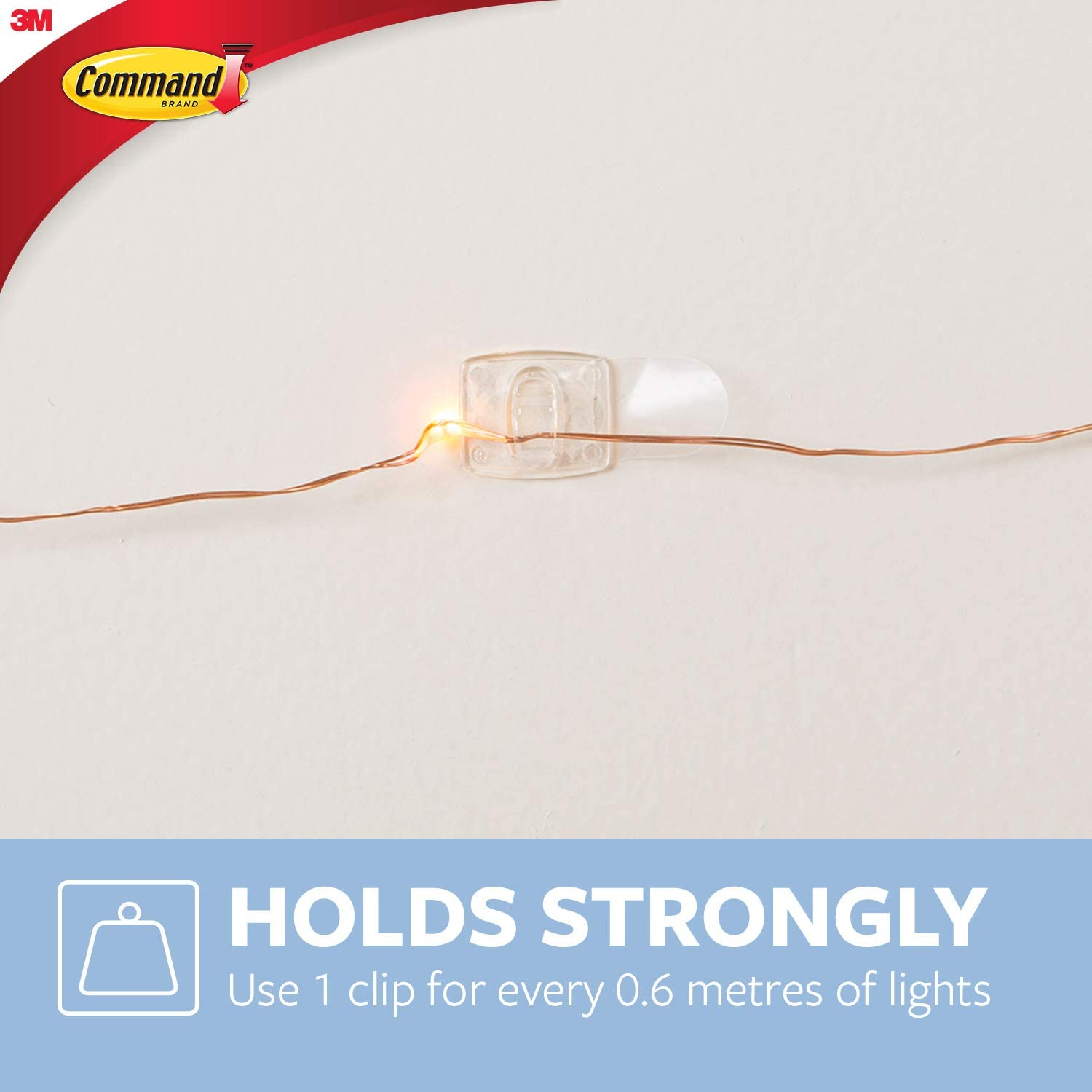 Command 17026CLR VP Decoration Clips For Christmas And Fairy Light Clear Value Pack   Discount ...